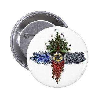 wiccan biker round button