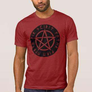 Wiccan Black Runic Pentagram T-Shirt