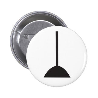 Wiccan Broom Symbol 6 Cm Round Badge