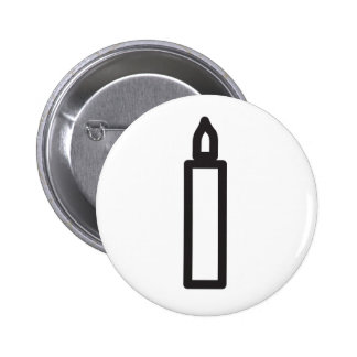 Wiccan candle symbol 6 cm round badge