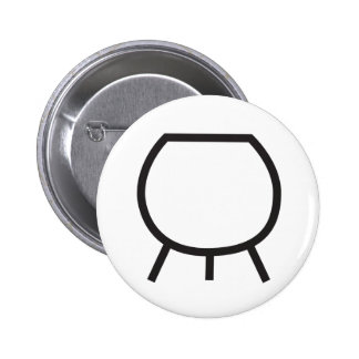 Wiccan Cauldron Symbol 6 Cm Round Badge
