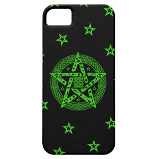 Wiccan Celtic Knot Pentagram with Floral Pattern Case For The iPhone 5