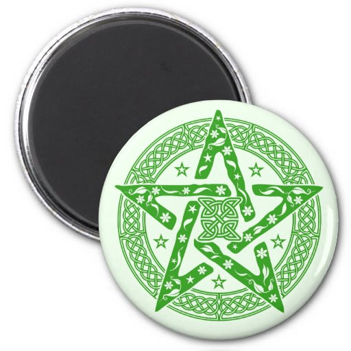 Wiccan Celtic Pentagram Fridge Magnet