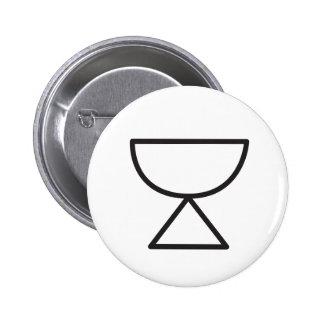 Wiccan Cup Symbol 6 Cm Round Badge