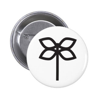 Wiccan Herbs and Greens Symbol 6 Cm Round Badge