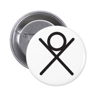 Wiccan Immortality Symbol 6 Cm Round Badge