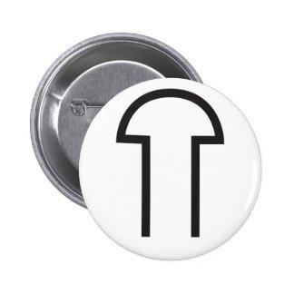 Wiccan Male Symbol 6 Cm Round Badge
