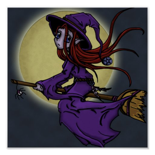 Wiccan Moon Poster