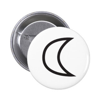 Wiccan Moon Symbol 6 Cm Round Badge