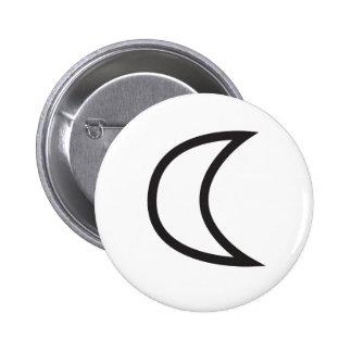 Wiccan Moon Symbol 6 Cm Round Badge
