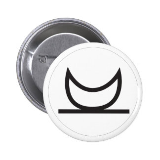 Wiccan Moonrise Symbol 6 Cm Round Badge