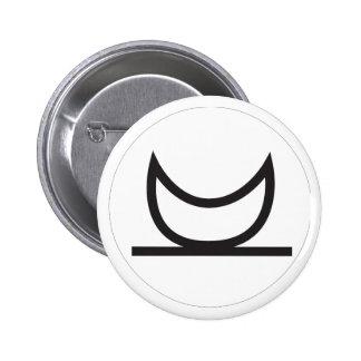 Wiccan Moonrise Symbol 6 Cm Round Badge