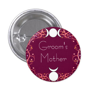 Wiccan Mother of the Groom Pin: God & Goddess 3 Cm Round Badge