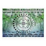 Wiccan Pagan Pendulum Chart Postcard