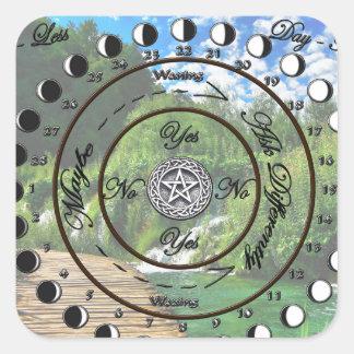 Wiccan Pagan Pendulum Chart Square Sticker
