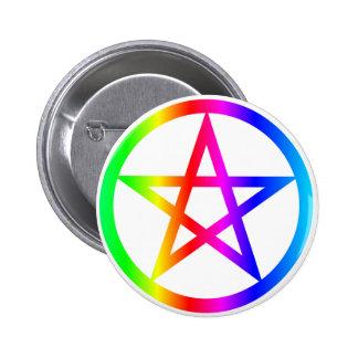 Wiccan (Pentacle) Symbol 6 Cm Round Badge