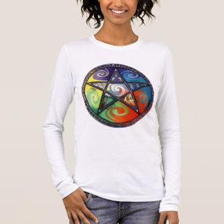 Wiccan Pentagram Long Sleeve T-Shirt