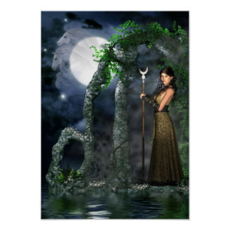 Wiccan Poster - Moon Goddess 'Selene' [A3]