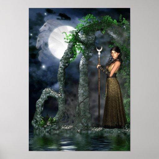 Wiccan Poster - Moon Goddess 'Selene' [A3]