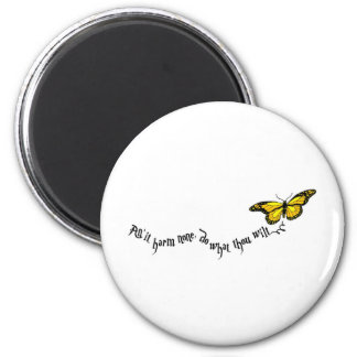 Wiccan rede 6 cm round magnet
