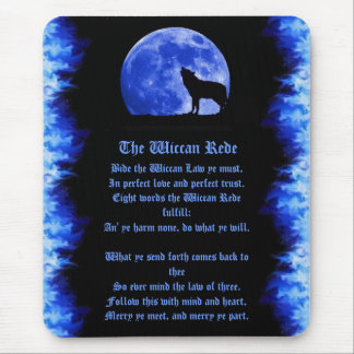 Wiccan Rede - Blue Flame Mouse Mat