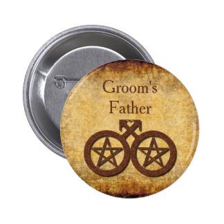 Wiccan Rustic Groom's Father Pin Gay Handfasting