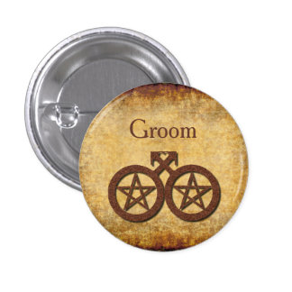 Wiccan Rustic Pin for a Gay Groom's Handfasting