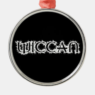 Wiccan Silver-Colored Round Decoration