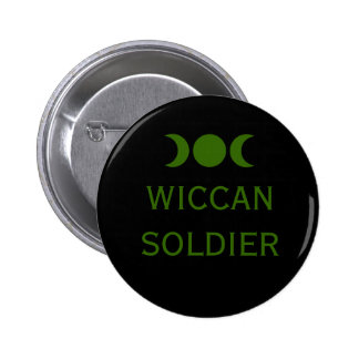Wiccan Soldier Button