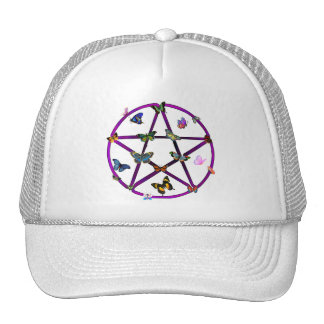Wiccan Star and Butterflies Cap