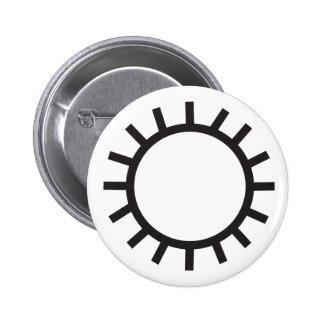 Wiccan Sun Symbol 6 Cm Round Badge