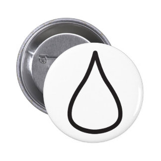 Wiccan Water Symbol 6 Cm Round Badge