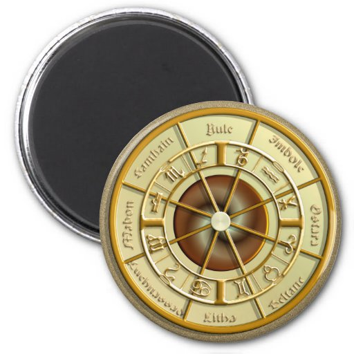 Wiccan Wheel of the Year Magnets