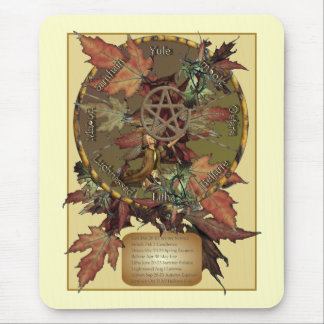 Wiccan Wheel With Pentacle Mousepad