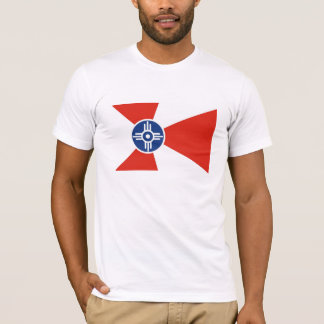 Wichita city flag  Kansas state America country T-Shirt