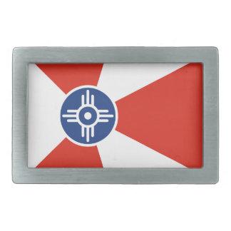 Wichita ICT Flag Rectangular Belt Buckle