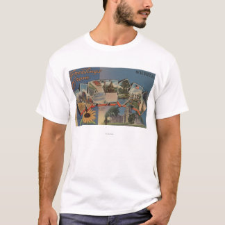 Wichita, Kansas - Large Letter Scenes T-Shirt