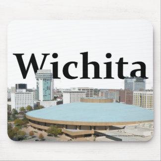 Wichita Kansas Skyline with Wichita in the Sky Mousepads