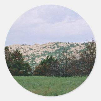 Wichita Mountains National Wildlife Refuge Round Stickers