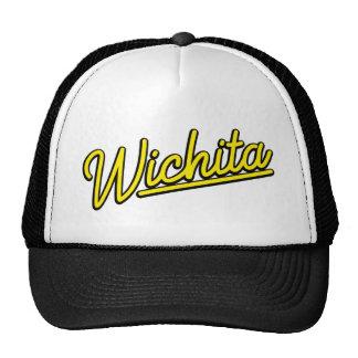 Wichita neon lights in yellow trucker hats