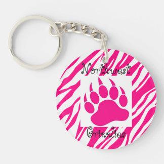 Wichita Northwest Grizzlies Keychain-Pink