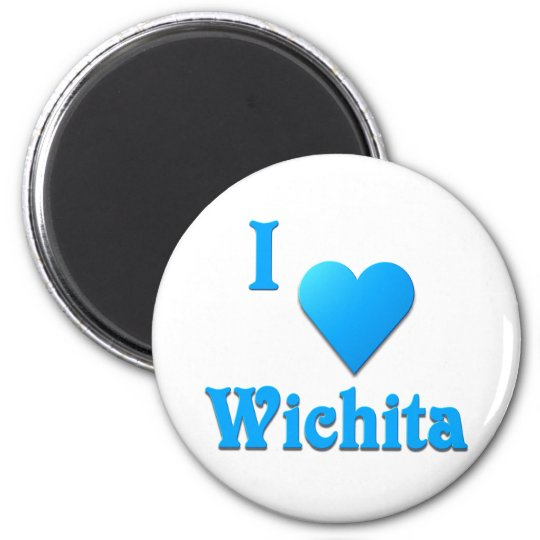 Wichita -- Sky Blue 6 Cm Round Magnet