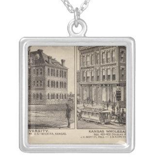 Wichita University, Kansas Silver Plated Necklace