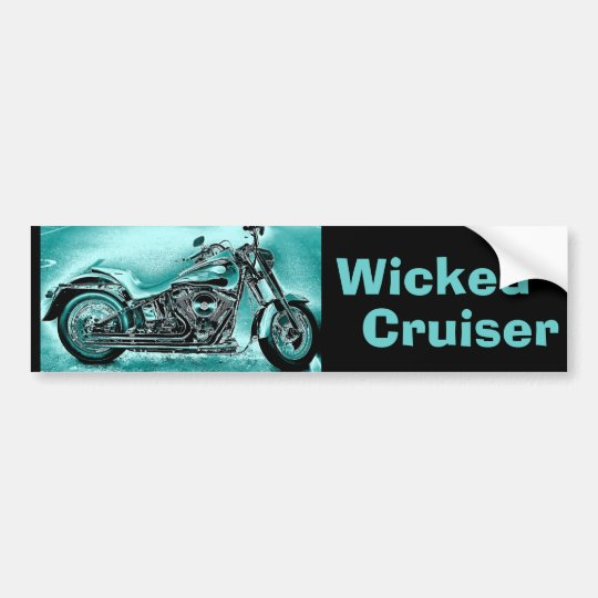wicked Cruiser Bumper Sticker
