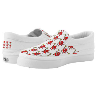 Wicked Devil Design Slip On Shoes