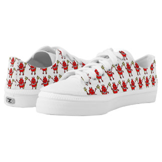 Wicked Devil Repeat Design Printed Shoes