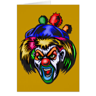 Wicked Evil Clown Greeting Card