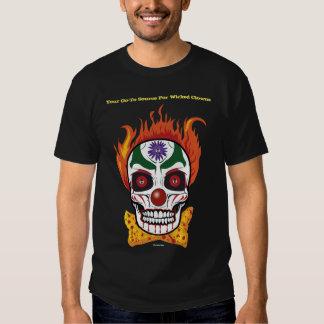Wicked Evil Clown Skull Mens Tshirt