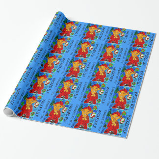 Wicked Evil Elf Santa Xmas Wrapping Paper