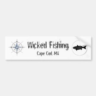 Wicked Fishing Sticker Bumper Sticker